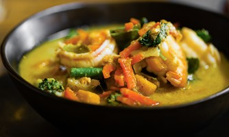 Sweet and Sour Stirred Prawns